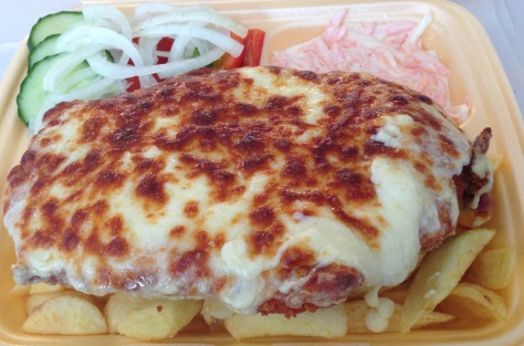 Mouth watering parmo